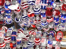 Free Red, White And Blue Baubles Stock Images - 16293214