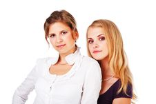 Free Two Beautiful Young Girl Royalty Free Stock Photos - 16293498