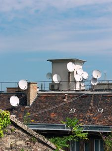 Free Roof With Antennas Stock Photo - 16293740