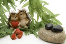 Ceramics Hedgehog Pair Stock Images