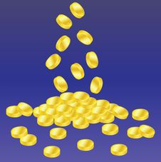 Free Golden Coins Royalty Free Stock Photo - 16294145