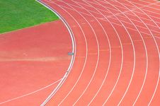Free Running Track In A Stadium Stock Photography - 16294222