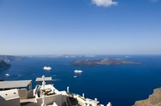 Free Gorgeous View Of Romantic Santorini Royalty Free Stock Image - 16294846