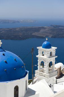 Free Church Bells On Santorini Island Stock Photography - 16295162