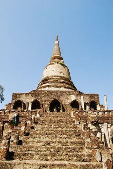 Ancient Buddha Pagoda In Thai Ancient Temple Stock Photos