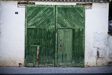 Free Old Door In Old Street Royalty Free Stock Photography - 16296947