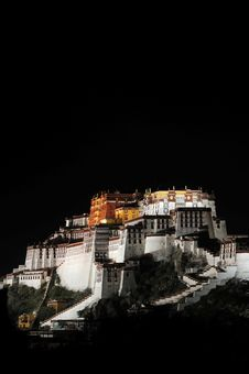 Free Potala Palace At Night Stock Photography - 16297112