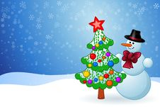 Free Christmas Snowman Stock Photography - 16297452