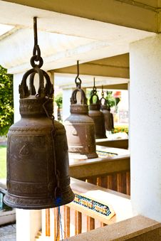 Free Old Bells In A Buddhist Temple Royalty Free Stock Photo - 16297515