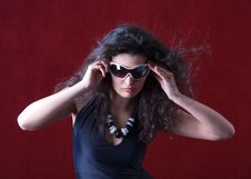 Free Hot Fashion Model Wearing Sunglasses Stock Photos - 16297593