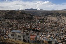 La Paz And Andes Royalty Free Stock Image