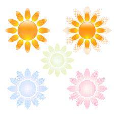 Free Sun Icons Set Royalty Free Stock Image - 16297906