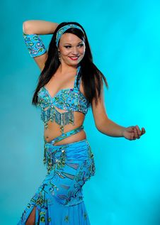 Free Beautiful Sexy Dancer Woman In Bellydance Costume Stock Photos - 16298273