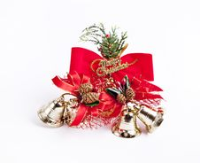 Free Golden Christmas Bell On White Background Royalty Free Stock Photo - 16298925