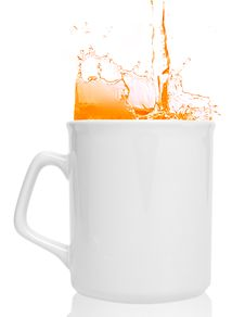 Cup Of Orange Juice Royalty Free Stock Image