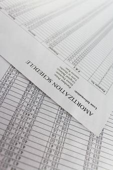 Free Amortization Schedule Stock Photo - 16299220