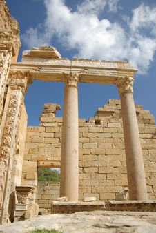 Roman Columns, Libya Royalty Free Stock Photo