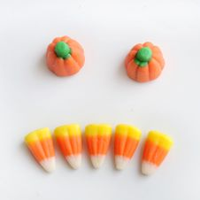 Free Scary Face Of Halloween Candy Corn Royalty Free Stock Photography - 16299367