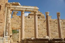 Roman Columns, Libya Royalty Free Stock Photos