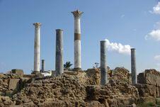 Free Roman Columns, Libya Stock Photos - 16299393