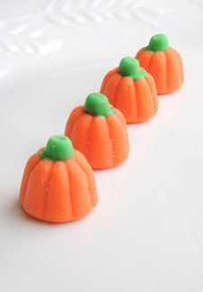 Free Halloween Candy Pumpkins Isolated Stock Images - 16299484