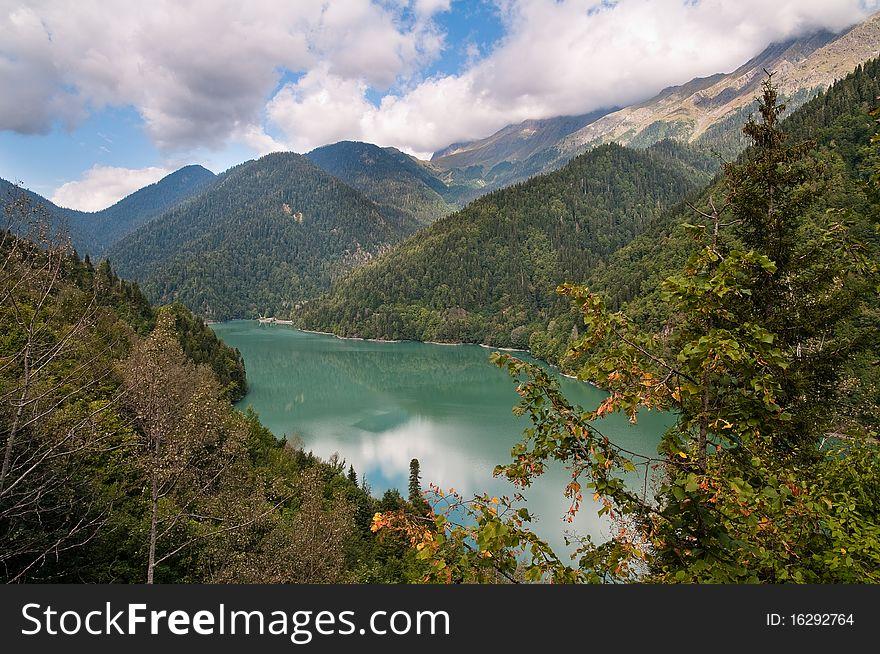Lake Ritsa. Abkhazia.