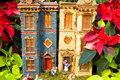 Free Toy Village In Poinsettia Forest - 2 Royalty Free Stock Image - 1634946