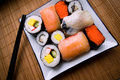 Free Assorted Sushi On Plate Stock Photography - 1635812