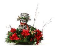 Free Snowman Christmas Basket Royalty Free Stock Photography - 1631067