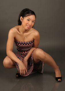 Free Asian Girl In Dress Stock Photos - 1631543