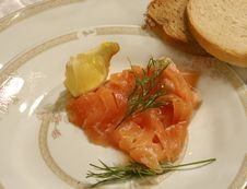 Free Smoked Salmon Royalty Free Stock Photography - 1632297