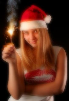 Free Christmas Girl Royalty Free Stock Photography - 1632377