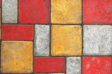 Colored Paving Slab Texture 2 Stock Photos