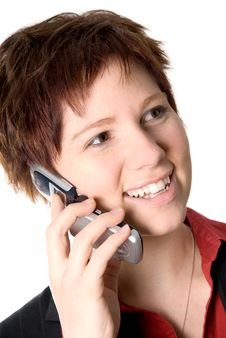 Free Happy Phone Call Royalty Free Stock Photo - 1633345