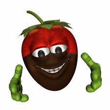 Free Chocolate Dipped Strawberry Hug Stock Photos - 1634253