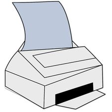 Free Printing Icon Royalty Free Stock Photo - 1634625