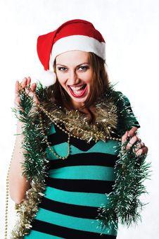 Free Christmas Girl Royalty Free Stock Photo - 1635145