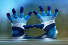 Winter Hands Stock Image