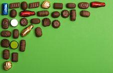 Free Chocolate Corner Frame Stock Photography - 1638822