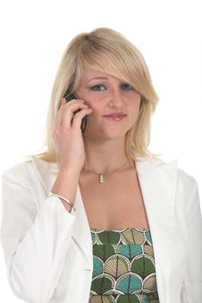 Zanne Over The Phone Stock Photo