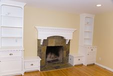Free Remodeled Fireplace Mantle Stock Images - 1639254
