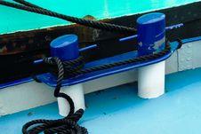 Free Bollards On A Dutch Barge Stock Photo - 1639690