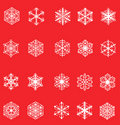 Free Set Of Snowflakes Stock Photography - 16308752