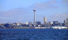The Seattle Needle Tower & Queen Anne District. Stock Photo