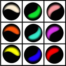 Free Half Color Cirlces Royalty Free Stock Photos - 16300558