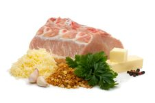 Pork Chops With Grated Cheese Stock Image