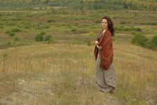 Free Female In Autumn Field Stock Photo - 16301480