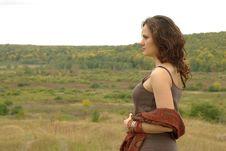 Free Girl In Field Stock Image - 16301541