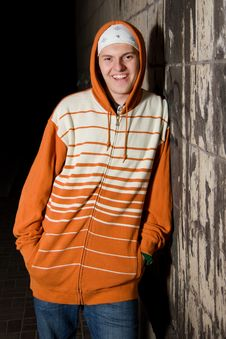 Free Smiling Young Rapper Guy Stock Image - 16301691
