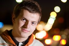 Free Portrait Of Teenager Boy At Night Royalty Free Stock Photos - 16301718